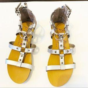 Blowfish Gladiator Sandals Silver Size 9